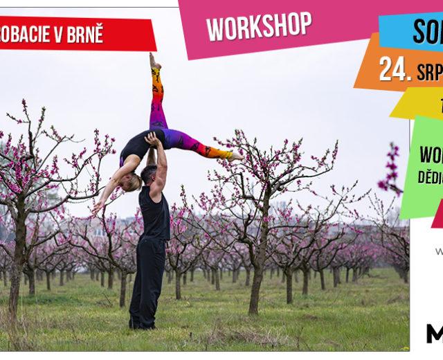 Pozvánka na workshop párové akrobacie pro pokročilé